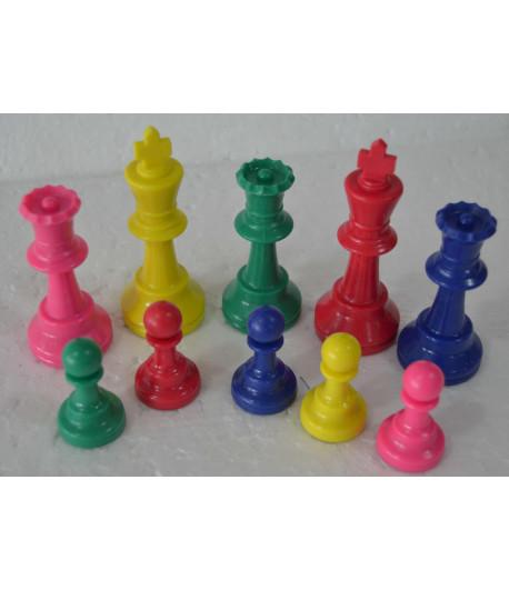Piezas plástico de colores