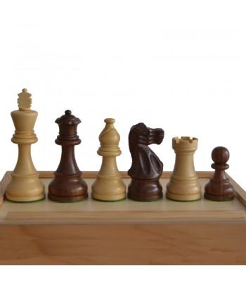 Juego de piezas de madera N.A. blanca y negra