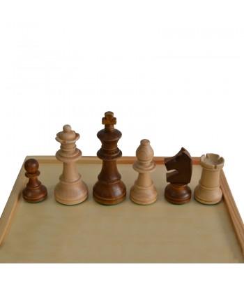 Piezas blancas y negras de madera de haya model Kh Bu