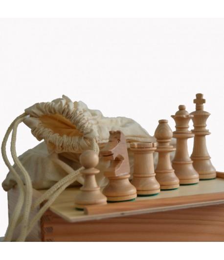 Piezas blancas de madera de haya modelo kh Bu con bolsa de tela