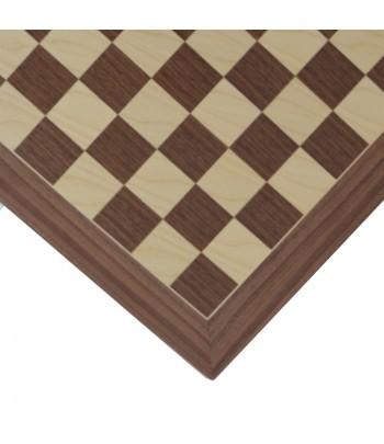 Tablero de madera de Nogal Barcelona Deluxe en detalle.